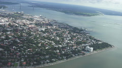 Charleston Downtown aerial Stock Footage
