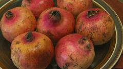 Zoom shot of pomegranates Stock Footage