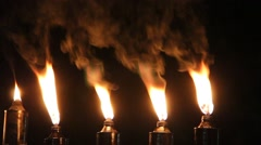 Hanukkah outdoor oil fixtures Stock Footage