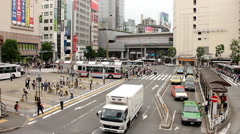 Crowded place at Shibuya Station, Tokyo city 2014 (39) Stock Footage