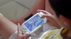 PlayStation Portable Close View Stock Footage