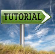Stock Illustration of tutorial