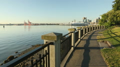 Stanley Park Morning Vancouver Stock Footage