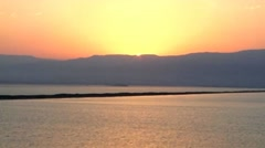 Sunrise in Neve Zohar, the Dead Sea, Southern Israel Stock Footage