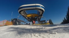 Lift on the mountain resort - stock footage