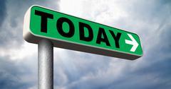 Today agenda Stock Illustration