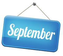 September Stock Illustration