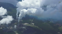 Toxic Clouds billow past 5,000 feet passing power nuke, northern Florida. 4k - stock footage