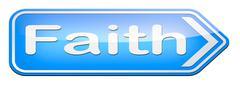 faith and trust - stock illustration
