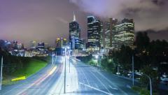 Hyperlapse video of Melbourne CBD Stock Footage