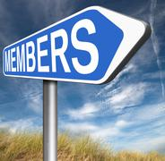 members only - stock illustration