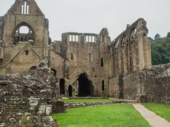 Ruins of Tintern Abbey, a former cistercian church from the 12th Stock Photos