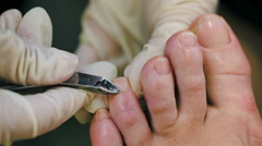 Process of pedicure Stock Footage