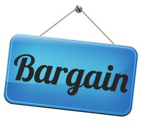 bargain - stock illustration