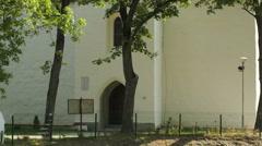 Ancient Catholic church Stock Footage