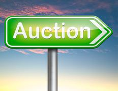 Online auction Stock Illustration