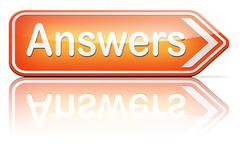 Answers to solve problems Stock Illustration