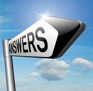 answers - stock illustration