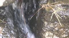 Garden Waterfall Between Rocks Stock Footage