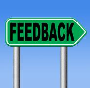 User feedback and testimonials.  customer satisfaction survey comments review Stock Illustration