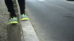 Shoes running sport city Stock Footage