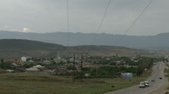 Power line in the mountains of the North Caucasus, 2014 Stock Footage