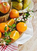 different useful fruits - stock photo