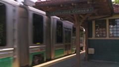 Train Pulling into Station Stock Footage