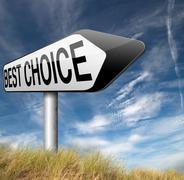 best choice - stock illustration