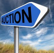 auction - stock illustration