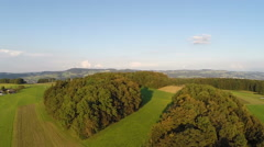 Aerial Footage of a forest in Central Switzerland Stock Footage