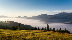 clouds time lapse. mountain landscape. global warming. nature - stock footage