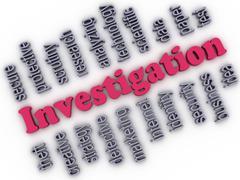 3d image investigation concept word cloud background Stock Illustration