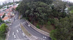 Cars close to the Ibirapuera Park in Sao Paulo, Brazil Stock Footage