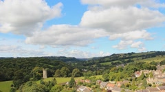 Clouds Sweeping Across Historical Yorkshire Town in Epic Wide Time Lapse Stock Footage