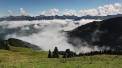 Large view in high mountains Alps, Austria Stock Footage