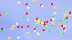 Colofull Balloons in the sky - stock footage