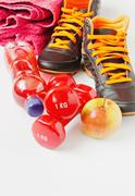 sport and healthy eating - stock photo