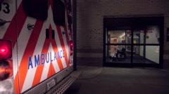 Ambulance outside Emergency Room - stock footage