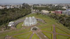 Aerial Image of  Beautiful Botanical Park in Brazil - 004 Stock Footage