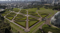 Aerial Image of  Beautiful Botanical Park in Brazil - 007 Stock Footage