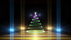 Christmas tree in the room, loop Stock Footage