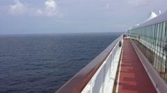 Cruise ship balcony Mediterranean Ocean 4K 010 Stock Footage