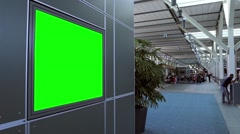 Green billboard for your ad. Stock Footage