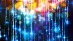 4K Abstract motion background, shining light, stars, particles, rays, loop. - stock footage