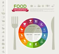 Healthy Food Infographic Template. - stock illustration