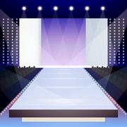 Fashion runway poster Stock Illustration