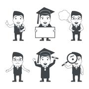 Education characters set Stock Illustration