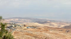 Judean Desert. View from Mount Scopus. Jerusalem. Israel - stock footage