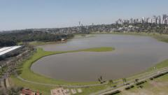 Aerial Image of  beautiful Barigui Park in Brazil - 006 Stock Footage